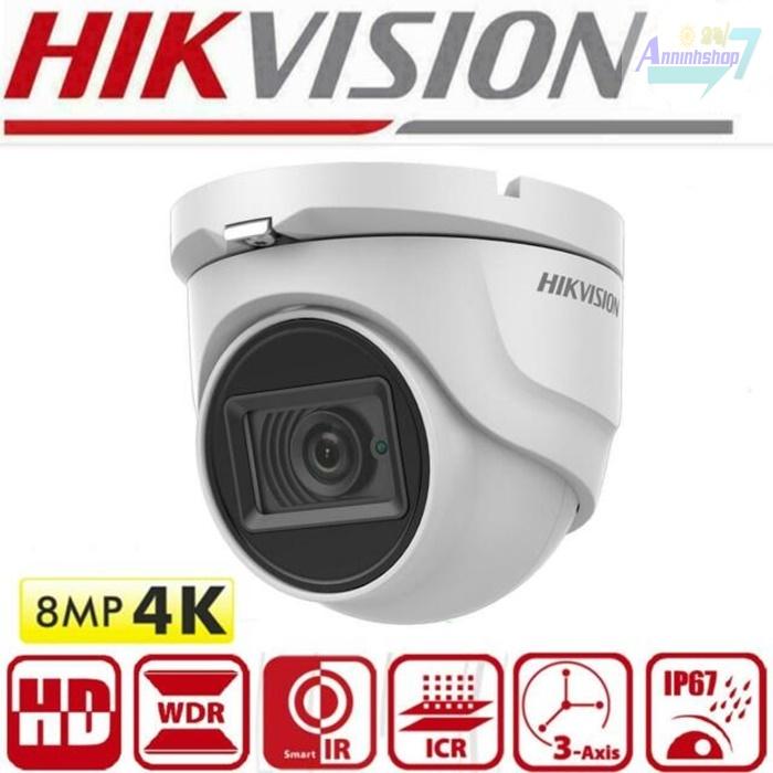 Camera 4k hikvision DS-2CE76U1T-ITMF dome ốp trần
