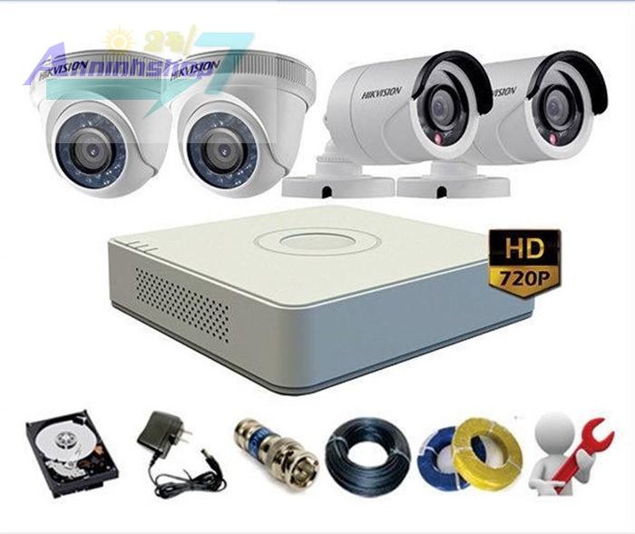 Lắp đặt trọn gói 4 camera hikvision tại Hà Nội