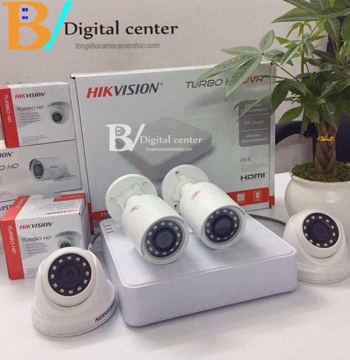 Hình ảnh trọn bộ 1 chiếc camera hikvision HD