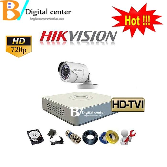 Trọn bộ 1 chiếc camera hikvision HD