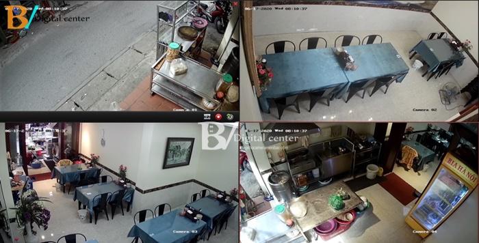 Hình ảnh trọn bộ camera hikvision HD cao cấp lắp thực tế nhà hàng