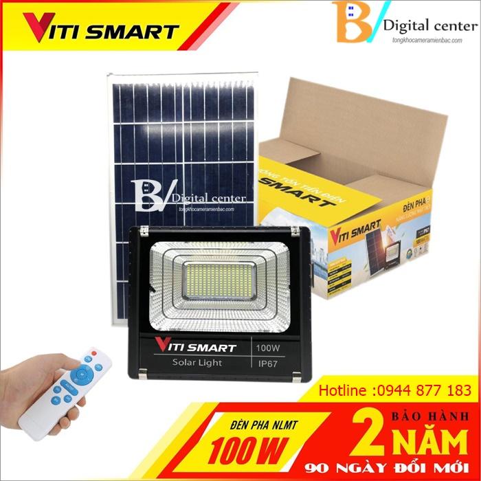 Đèn năng lượng mặt trời 100w hãng viti smart